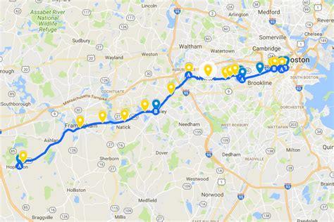 boston marathon route map 2018 boston marathon map boston herald