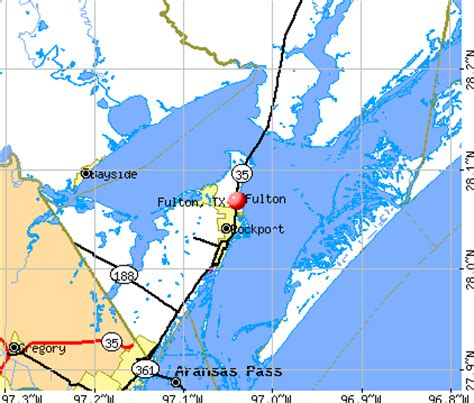 fulton texas map fulton texas tx 78358 78382 profile population maps real estate averages homes