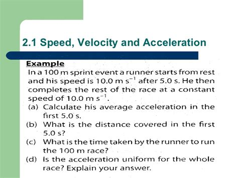 Calculating Speed And Acceleration Worksheet