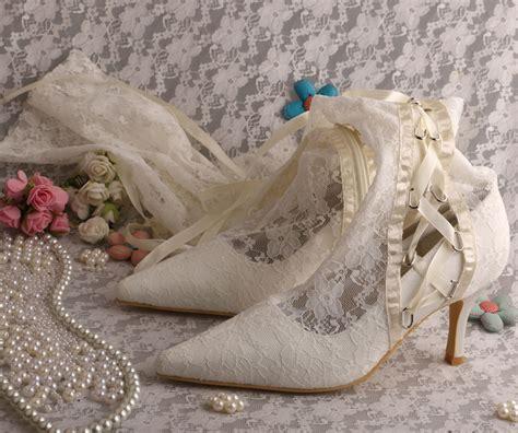 Wei E Stiefel Hochzeit by Kaufen Gro 223 Handel Wei 223 Spitze Hochzeit Stiefel Aus