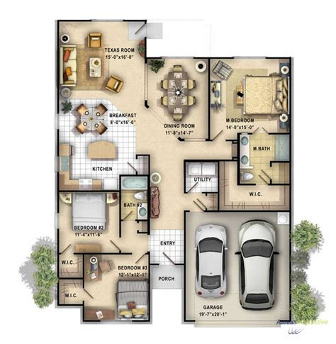home design 3d multiple floors 2d color floor plan of a single family 1 story home