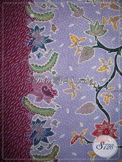 470 Kemeja Batik Kode Bj35 kain batik tulis halus warna ungu soft batik tulis ungu
