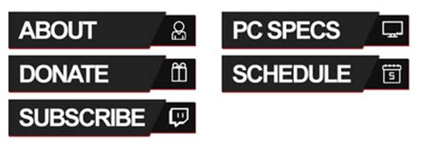 twitch info twitch info panel design redline ish by proxyproject on