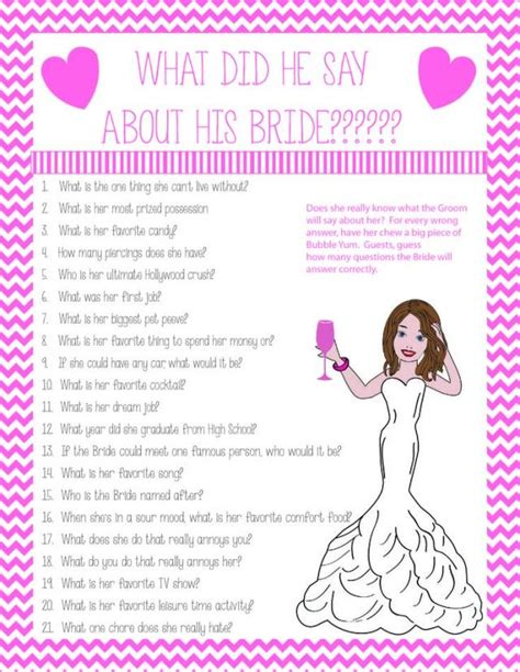 bridal shower free printables couples the has the what