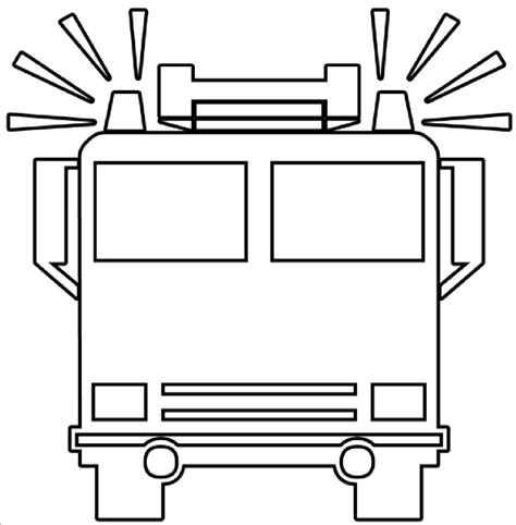Firetruck Outline truck outline clip at clker vector clip royalty free domain