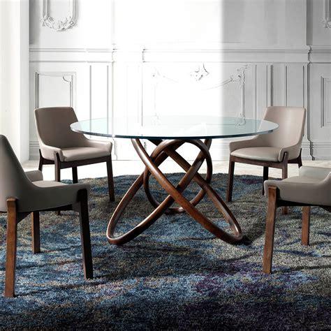 mesa redonda de cristal comedor mesa de comedor redonda con tapa de cristal modelo asylum