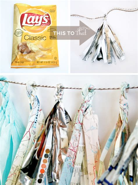 How To Make Recycled Decorations by One Charming Birthday Ideas Earth Day