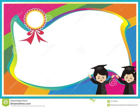 background design for kinder stock photo new best colorful kid certificate template