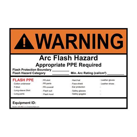 Ansi Warning Arc Flash Hazard Ppe Required Sign Awe 9620 Electrical Arc Flash Label Template
