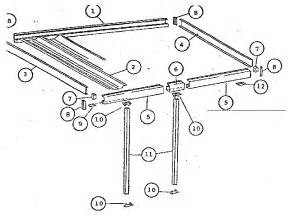 Patio Awning Parts Sears Patio Cover Parts Model 43364208 Sears Partsdirect