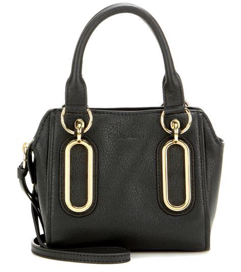 lyst   chloe paige mini leather shoulder bag