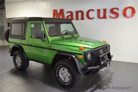 mercedes g wagon green 1985 mercedes benz 290gd diesel g wagon cabriolet 5 speed
