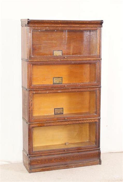 globe wernicke sectional bookcase value oak globe wernicke 4 section barrister bookcase with metal b