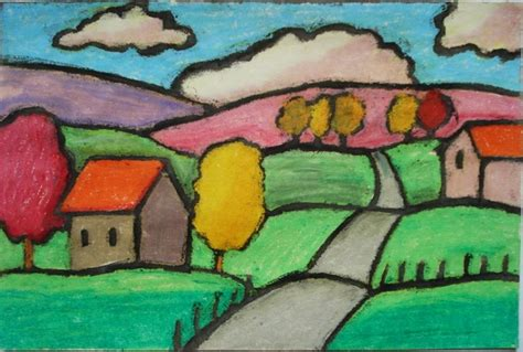 Landscape Grade 4 A Faithful Attempt Folk Pastel Landscapes