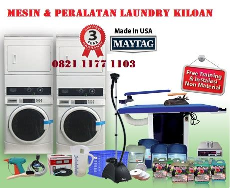peralatan mesin laundry kiloan