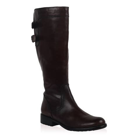 new dune maxim womens brown leather hi leg