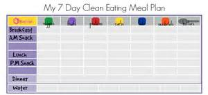7 day menu planner template clean meal plan leaders in health fitness