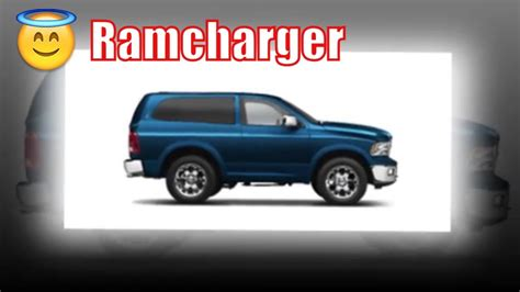 Dodge Ramcharger 2020 by 2020 Ram Ramcharger 4x4 2020 Ram Ramcharger Suv 2019