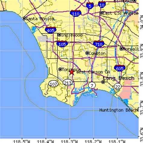 zip code map gardena ca west carson california ca population data races