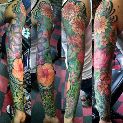 lucky monkey tattoo flower sleeve by lucky monkey s brad nugent yelp