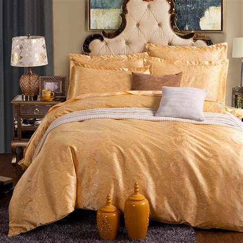 gold silk comforter noble luxury silk bed linen jacquard gold silk bedding