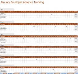 vacation tracker template employee absence tracking excel template
