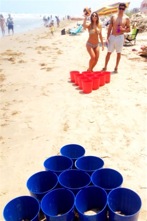 birthday themed drinking games cheap and easy beach game beach game pong pinteres