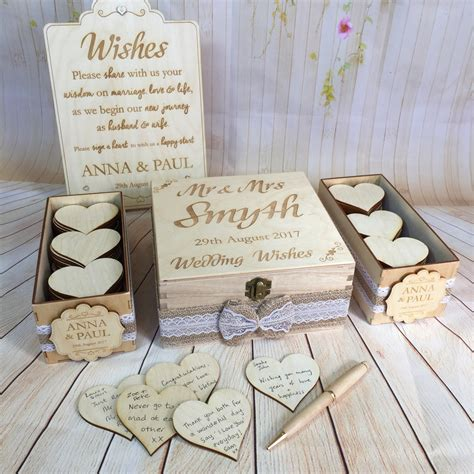 Wedding Box Wishes by Wedding Guest Book Alternative Drop In Wish Box Wishes Wood