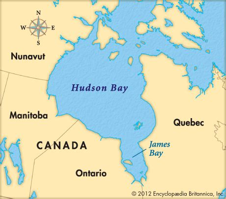 hudson bay canada map hudson bay encyclopedia children s homework help
