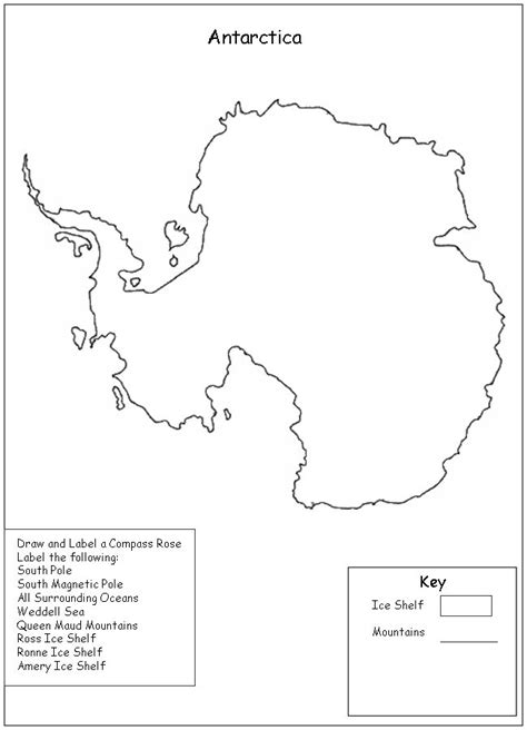 antarctica flag coloring page coloring pages