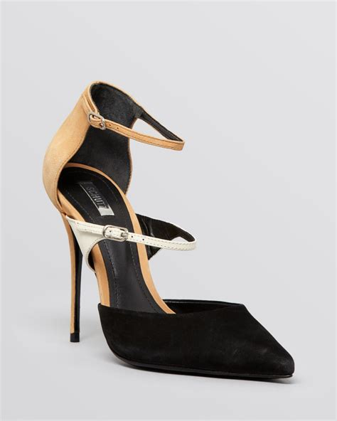pointed high heels with ankle straps lyst schutz pointed toe ankle pumps quirada high