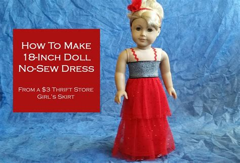 How To Make A Doll Dress Out Of Paper - htm ag doll no sew dress for 18 inch dolls doovi