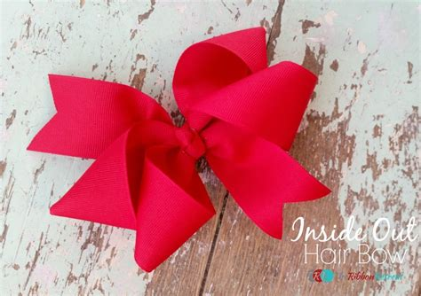 How To Make A Ribbon Bow Out Of Paper - how to make an inside out hair bow the ribbon retreat