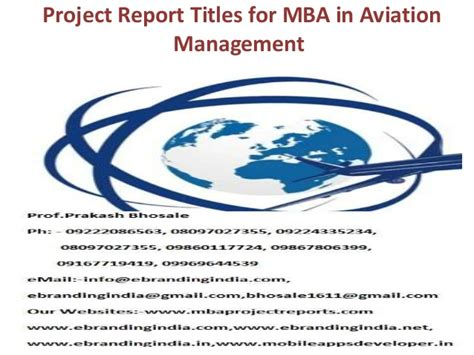 Mba In Airline And Airport Management Colleges In Chennai by Project Report Titles For Mba In Aviation Management
