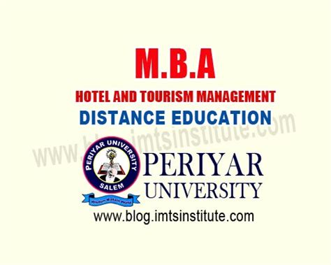 Mba In Travel And Tourism by Get Mba Hotel And Tourism Management Periyar