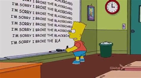 The Simpsons Best Gags by Image Black Eyed Chalkboard Jpg Simpsons Wiki