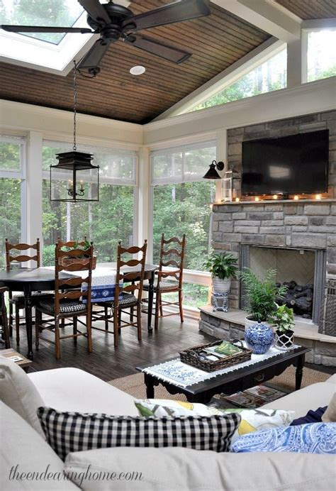 backyard room additions summer porch tour this is such a pretty room filled