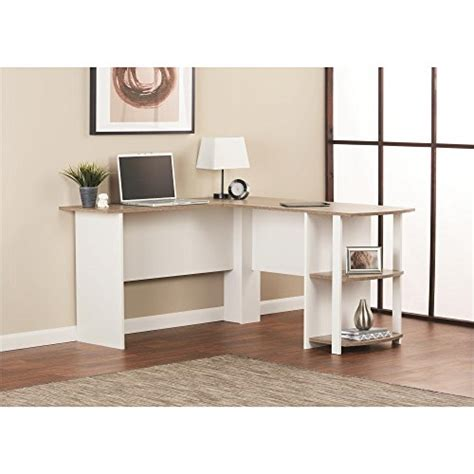ameriwood dark russet cherry l shaped desk ameriwood home dakota l shaped desk with bookshelves