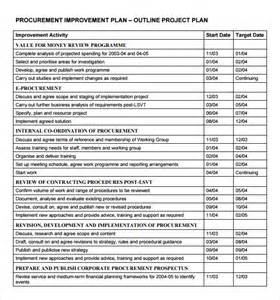 exle of a project plan template project outline template 9 free documents in