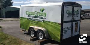 Enclosed Landscape Trailers by Landscaping For Less Trailer Wrap 183 Scs Wraps