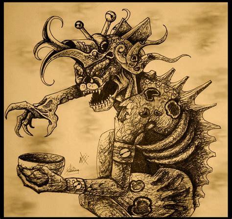 Imagenes Brujos Mayas   ah puch mayan ruler of mitnal