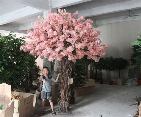 fake tree artificial cherry blossom tree without leaves for hotel