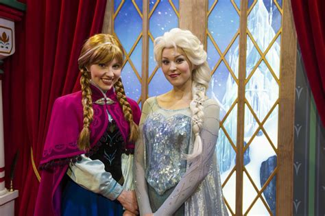 Superior How Long Is A Christmas Story The Musical #7: Frozen%20Characters%20Greet%20guests%20at%20Epcot%20%20(Anna,%20left,%20and%20her%20sister%20Elsa)%20photo(c)Disney%20Gene%20Duncan%20photographer.jpg