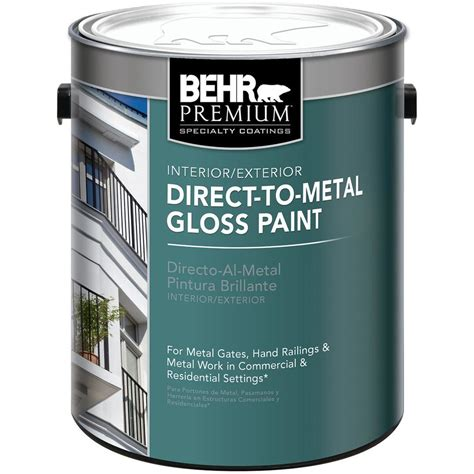 home depot paint label behr 1 gal direct to metal gloss interior exterior