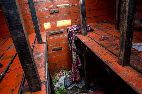 ark boat stuck on land shocking photos show the filthy conditions on boats used