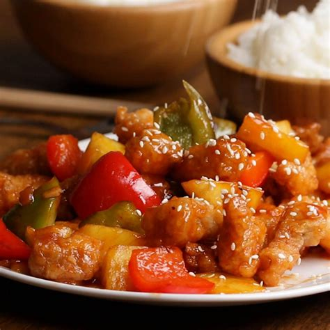 Sweat And sweet and sour pork recipe by tasty