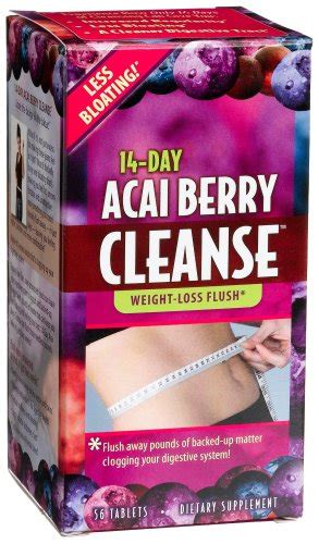 14 Day Cleanse Acai Berry Detox by Applied Nutrition 14 Day Acai Berry Cleanse 56 Count