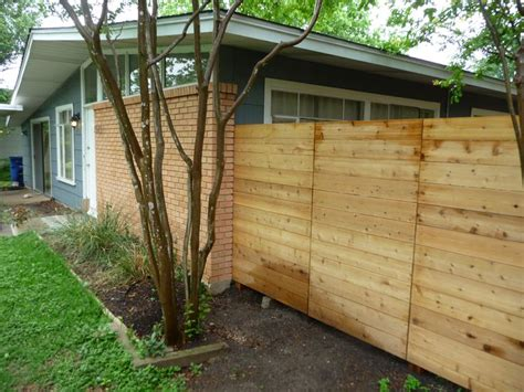 Cost Of Backyard Fence by Basic Low Cost Horizontal Fence Outdoor Spaces