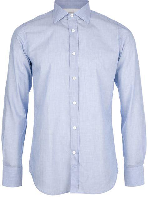 Buttoned Shirt paul joe buttoned shirt in blue for lyst
