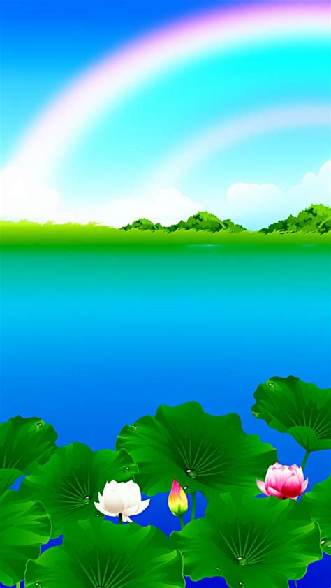 cartoon landscape pictures wallpaper